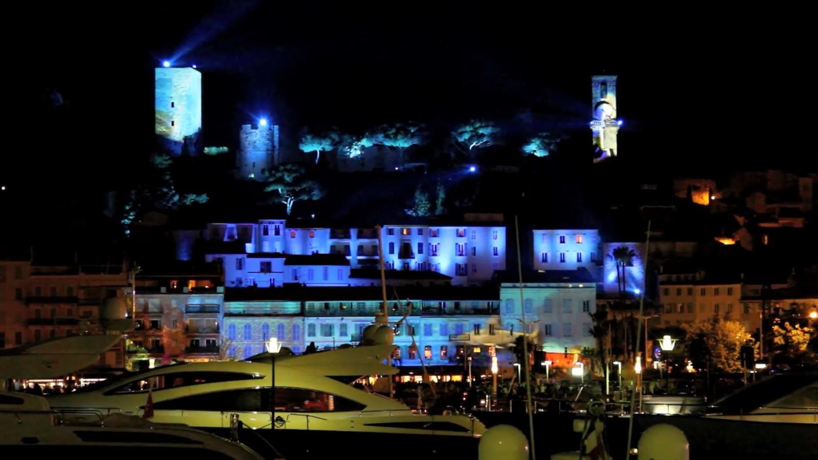 Spectacle sons et lumières à Cannes Le Suquet
