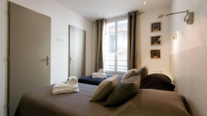 2ème chambre avec lits séparés location place Gambetta