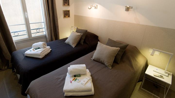 Chambre à coucher location Cannes