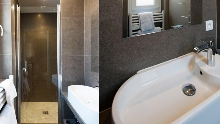 Salle de douche appartement place Gambetta