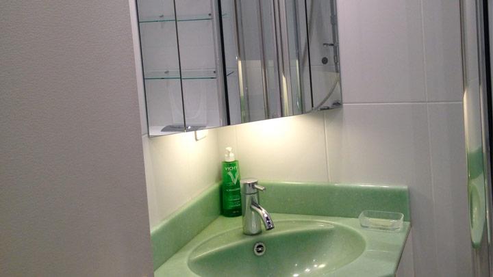 Salle de douche studio croisette branly